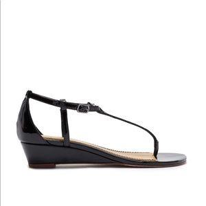 NIB black Spendid Byron Wedge sandal